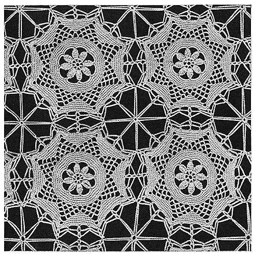 Ballerina Bedspread #674 GAUGE: Each motif measures 5 inches in diameter. Free Crochet pattern.