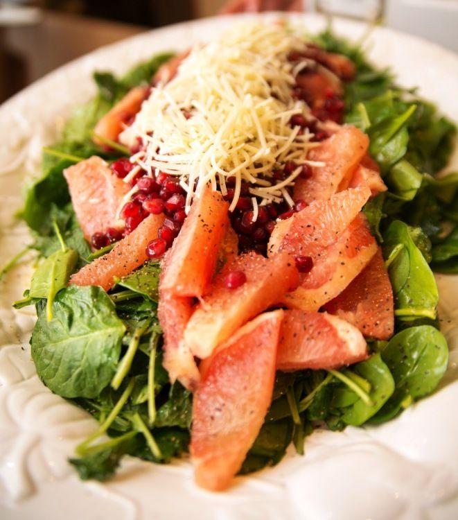 Kale Salad with Grapefruit Pomegranate and Avocado www.tammymaltby.com