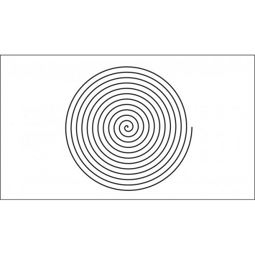 13 inch fine spiral quilting template quilt ez long arm 13 inch fine spiral quilting template quilt ez pronofoot35fo Images