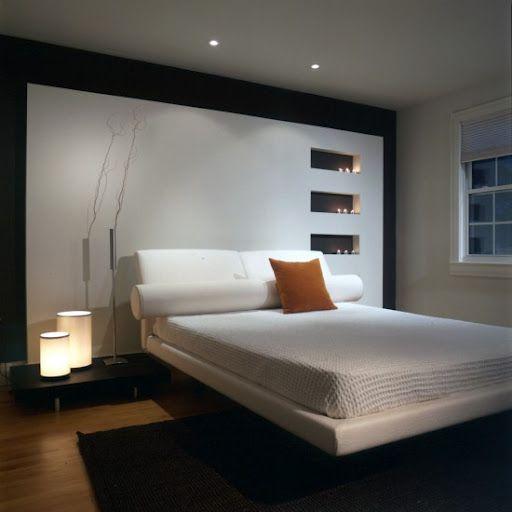 """Il controsoffitto in cartongesso """"curvo"""" disegna una perfetta cornice di design e di illuminazione. Velette Camera Da Letto Modern Bedroom Interior Modern Bedroom Design Small Bedroom Interior"""