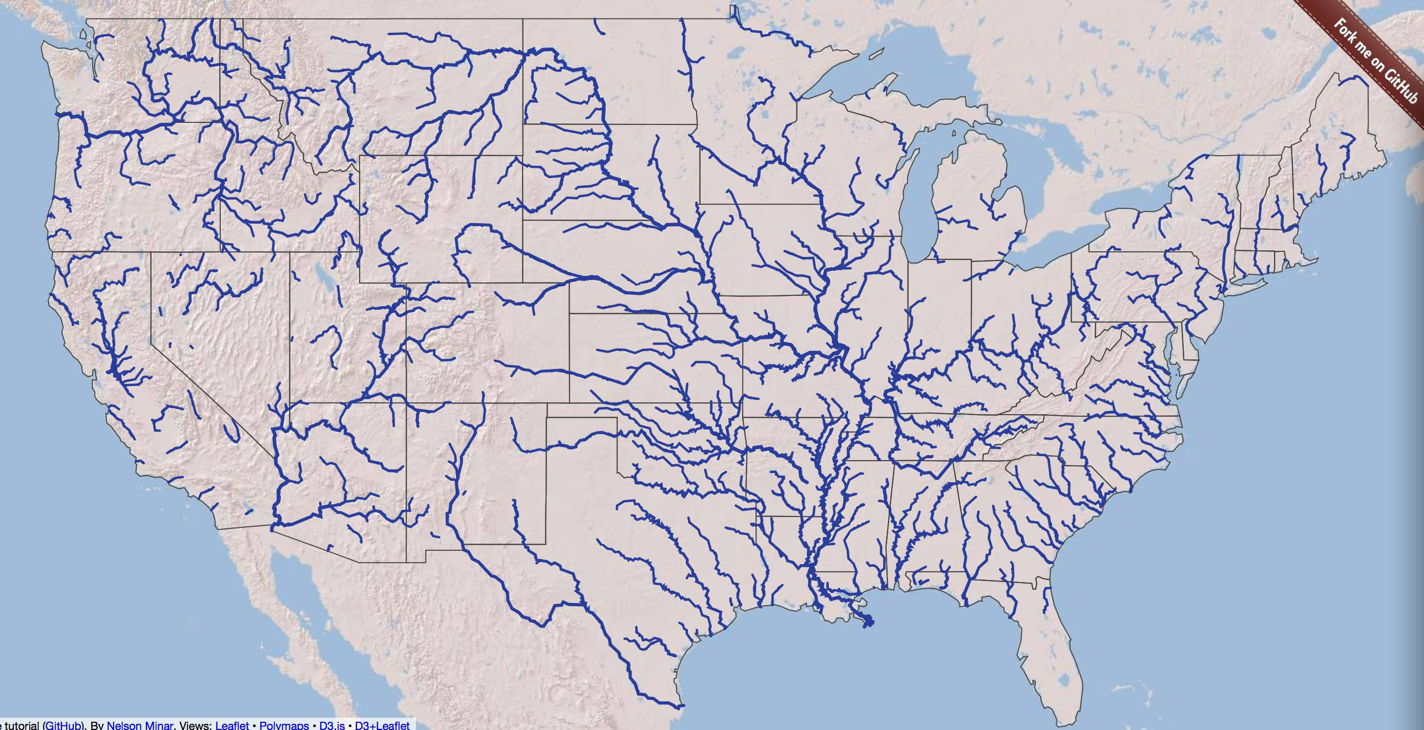 map of US lakes rivers mountains | Usa River Map Major US ...