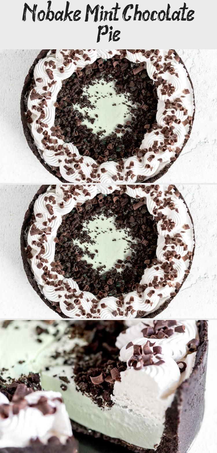 Photo of Whether you celebrate Pi Day or St. Patty's Day, this refreshing No-Bake Mint Ch…