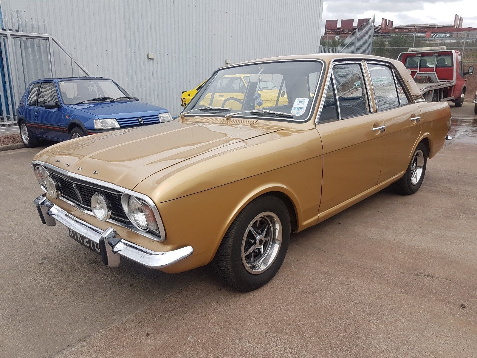 Ebay 1970 Ford Cortina 1600e Gold 50k Miles Last Owner Since 2003 Classiccars Cars Ford Classic Cars Ebay