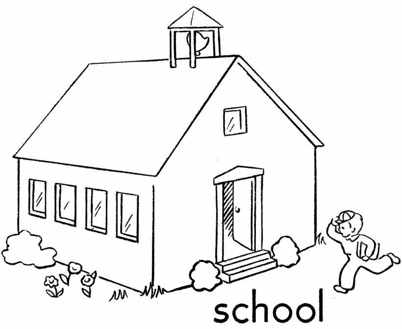 Dibujos Para Colorear De Regreso Al Colegio School