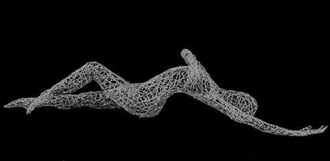 Beautiful wire sculpture #wireart #wiresculpture #nudes #drahtkunst #drahtskulpturen