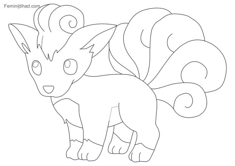 Printable Pokemon Vulpix Coloring Pages Pokemon Coloring Cartoon Coloring Pages Coloring Pages