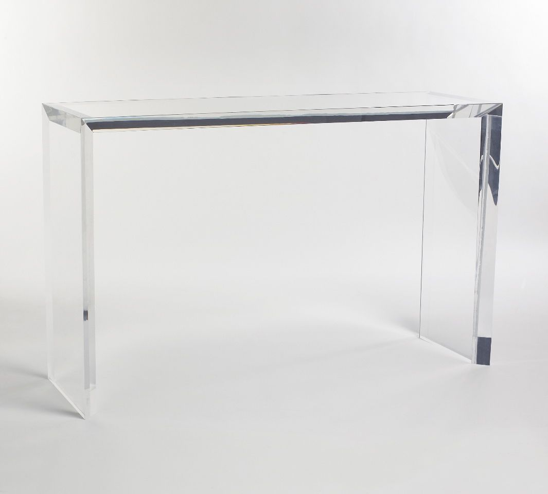 Carewjones.co.uk Ltd - Blade console table in 50mm thick acrylic