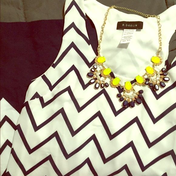 B. Darlin Chevron Dress NWOT! Necklace not included B. Darlin Dresses