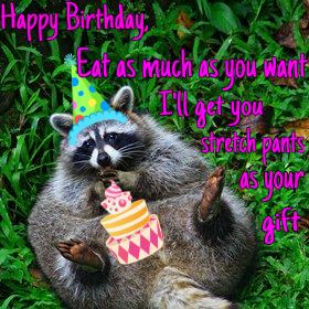 Birthday Meme Raccoon Quotes Christmas Ornaments