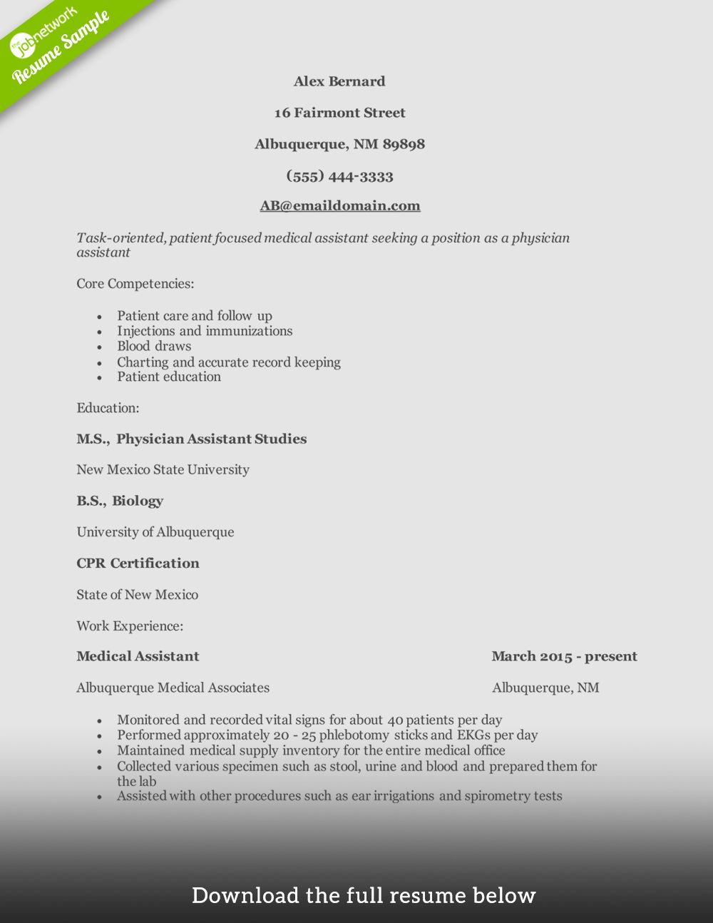 Physician assistant Resume Template Luxury How to Write A
