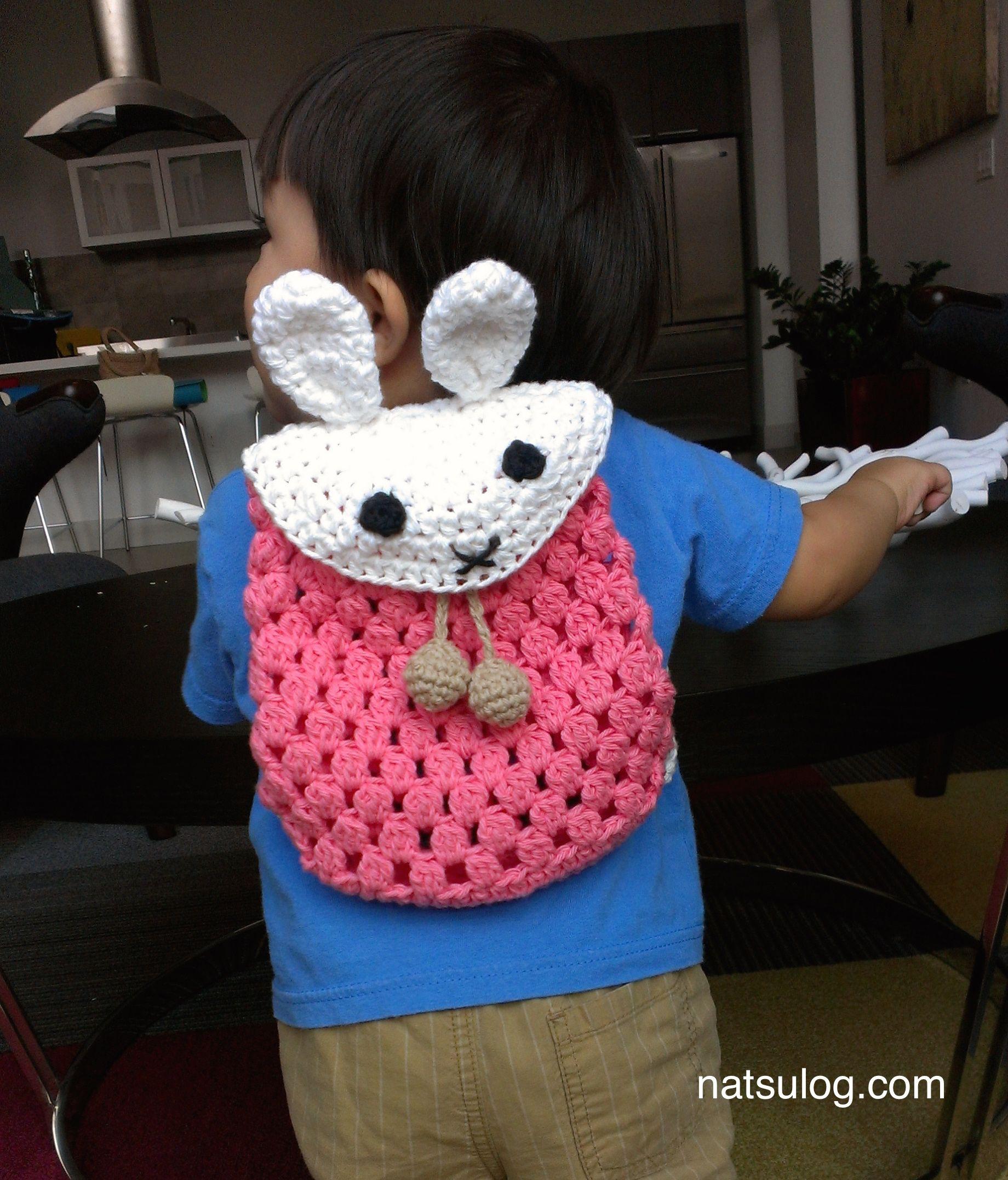 Crochet backpack pattern, Crochet easter bunny backpack, Crochet ...