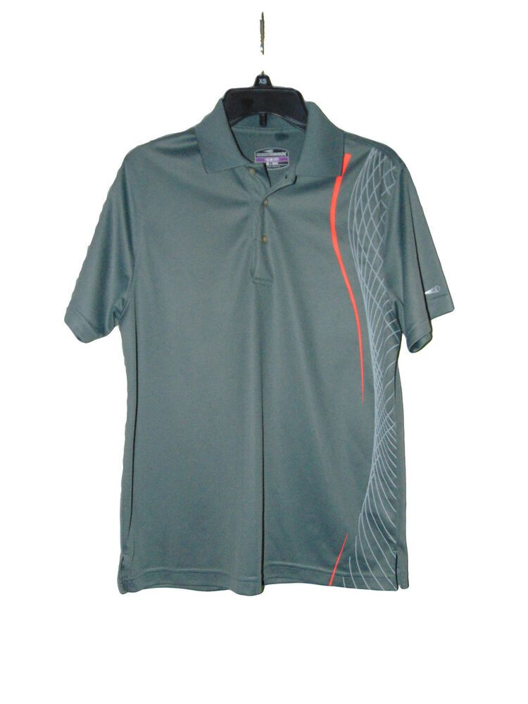 Grand slam gray golf polo shirt size small preowned slim