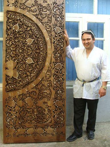 Блог питания Azu.uz - Джамшид Гаипов. Восточная сказка деревянного кружева