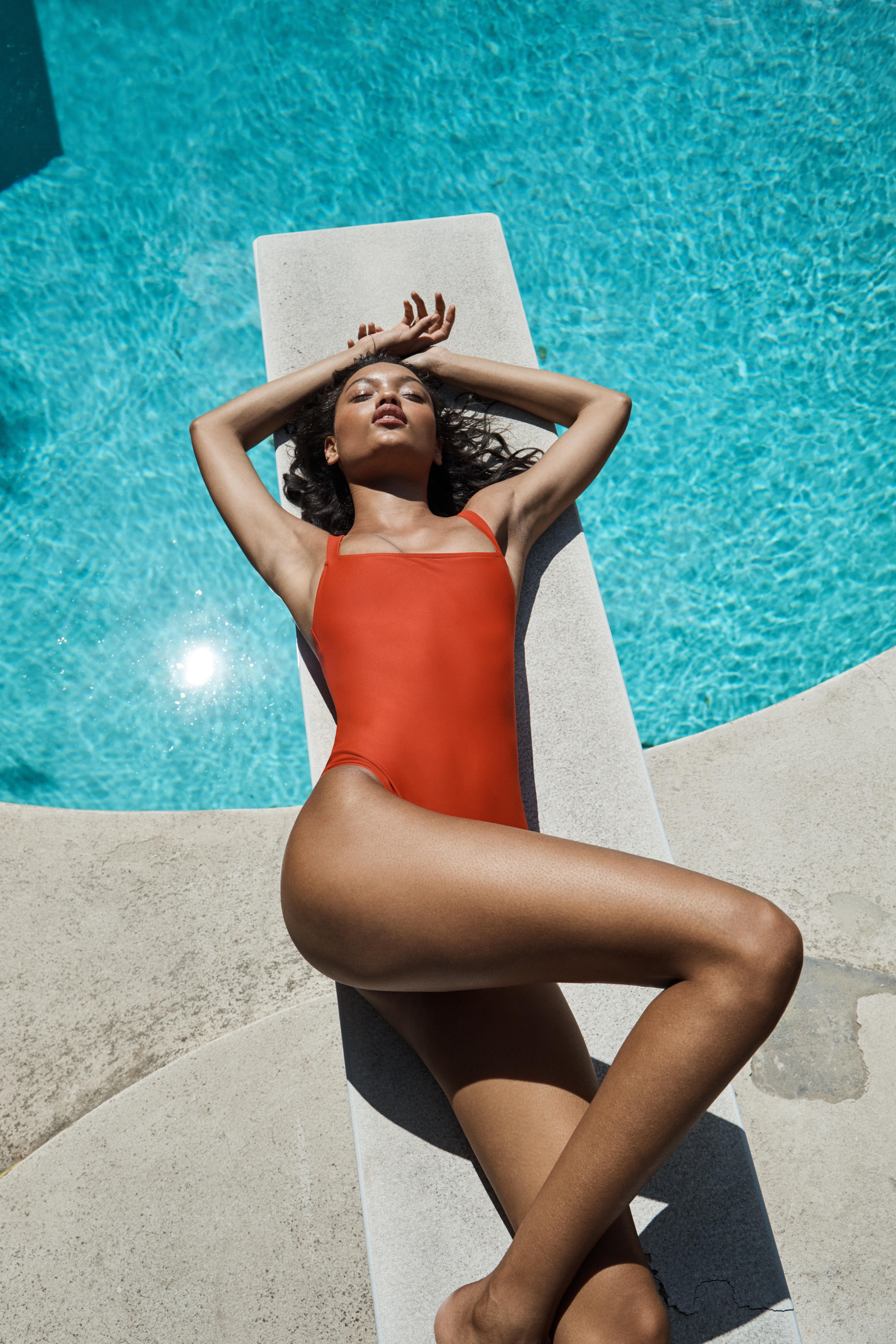 Eliza One Piece Swimsuits Photoshoot Bikini Poses Bikini Photoshoot