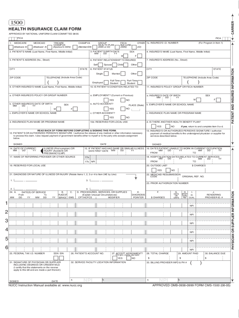 Medical Claim Form Template The Shocking Revelation Of Medical Claim Form Template Medical Claims Medical Health Insurance