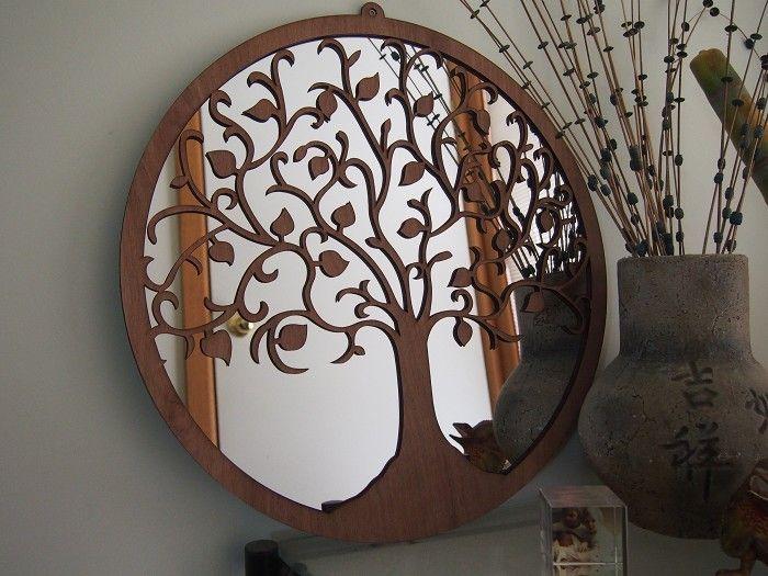 Tree Of Life Wall Art Mirror By Bluemerlemilli On Madeit Metal