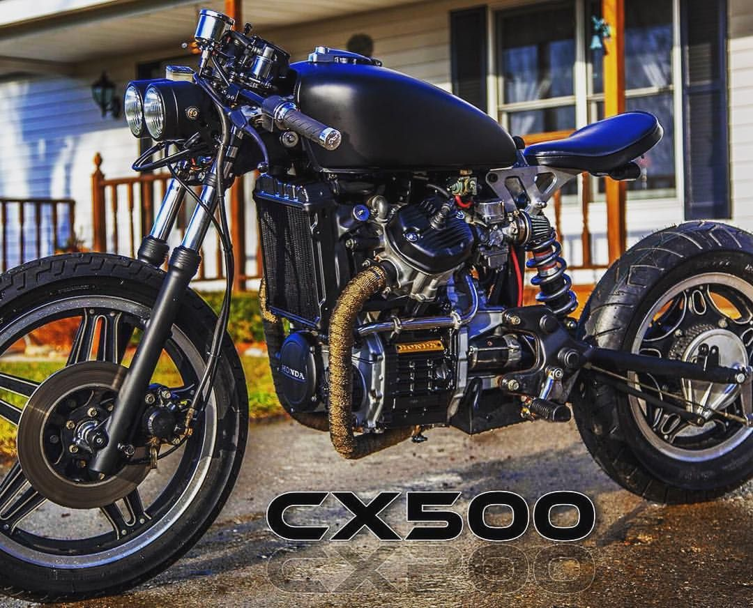 Local Customer In Michigan And His Cx500 With A Bobber Conversion
