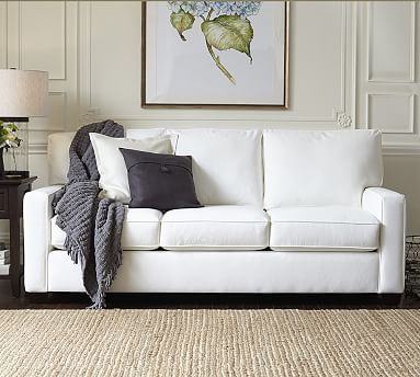 Buchanan Square Arm Upholstered Sofa #potterybarn Would Love This In White  Or Gray Brushed Canvas