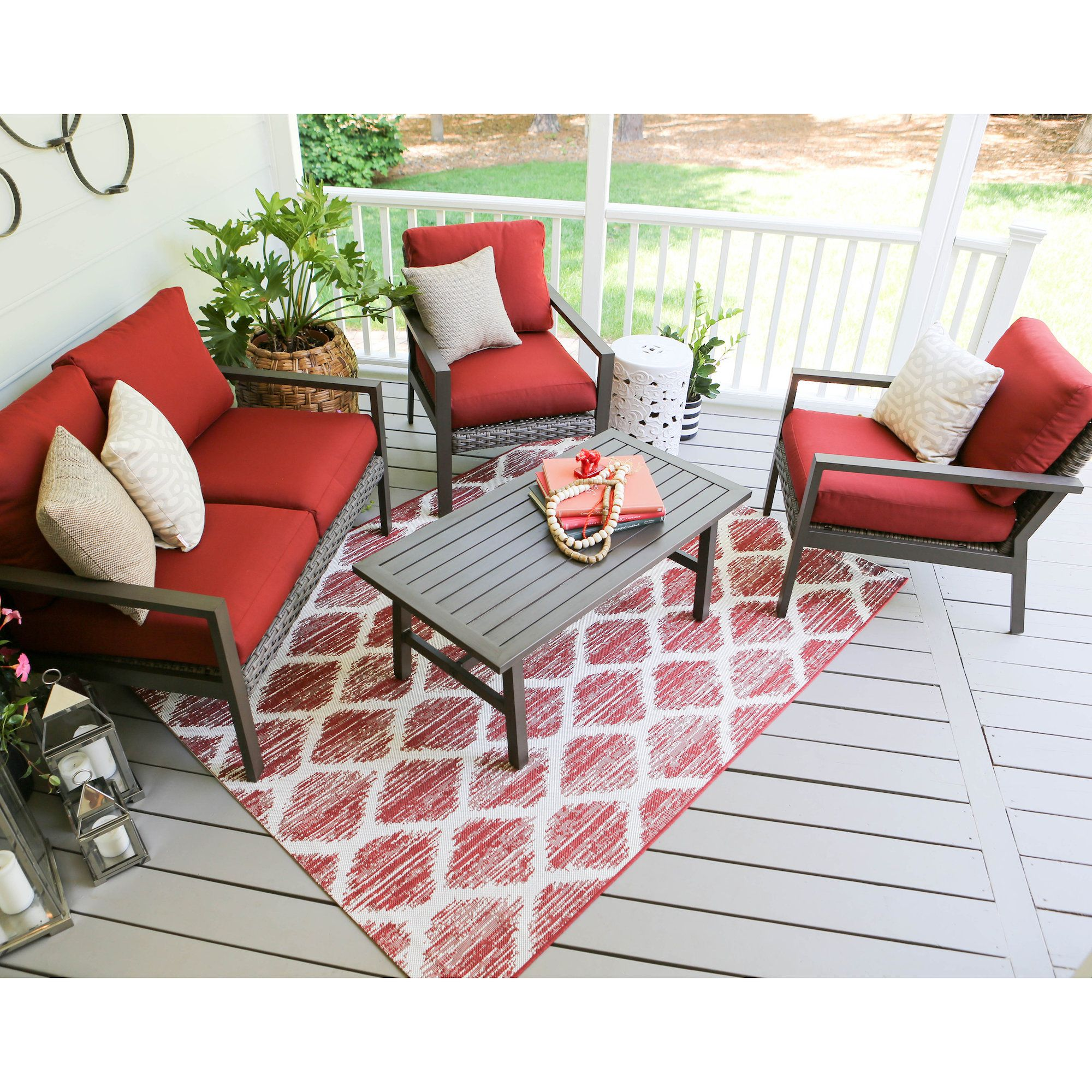 williamsburg 4-piece wicker sofa deep seating group | products
