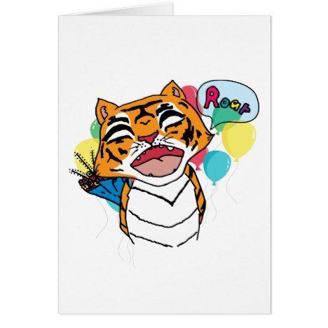 Tiger Birthday Card Tigers