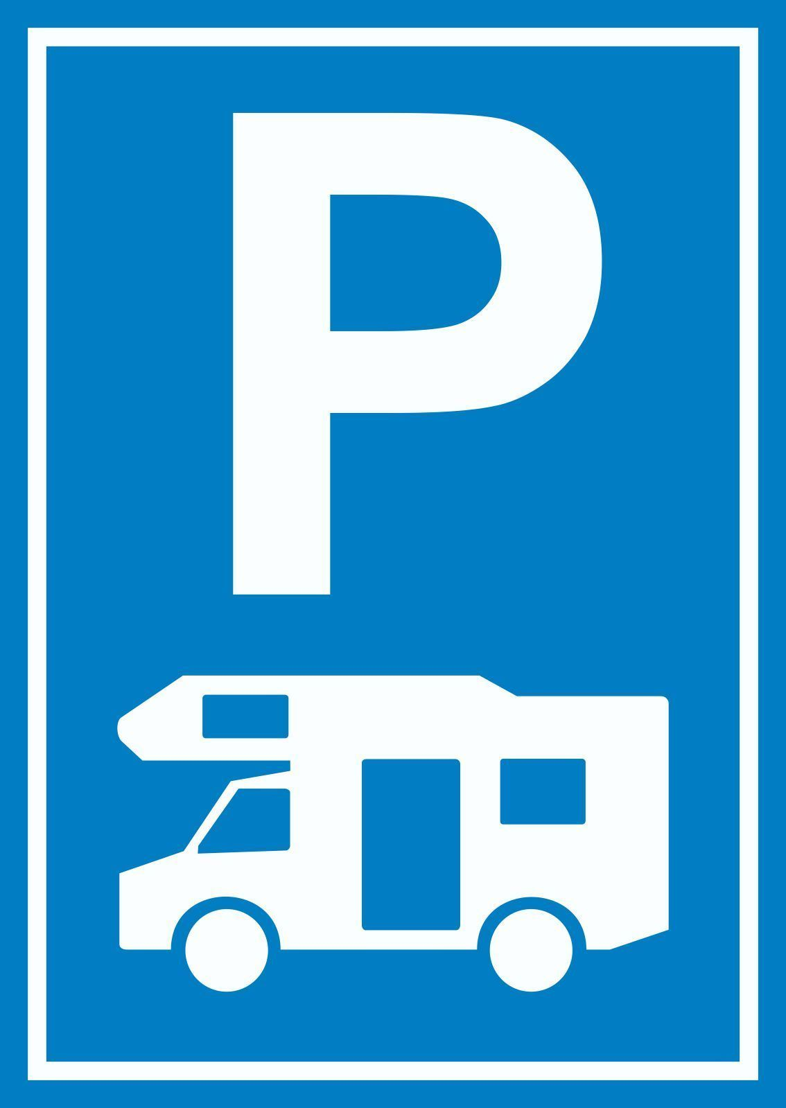 Wohnmobil Wohnwagen Caravan Parkplatz Schild  Caravan, Wohnwagen