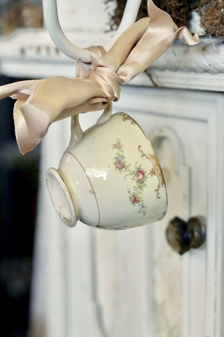 ribbon tied teacup-perfect