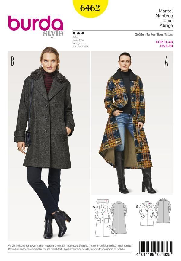Patron Individual de Costura, Marca Burda Style, Para Realizar 2 ...