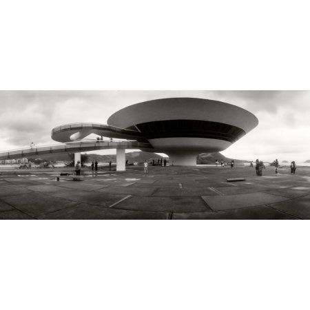 Niteroi Contemporary Art Museum designed by Oscar Niemeyer Niteroi Rio de Janeiro Brazil Canvas Art - Panoramic Images (36 x 12)