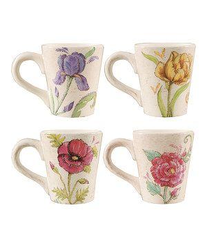 Garden Mug Set by C & F #zulily #zulilyfinds