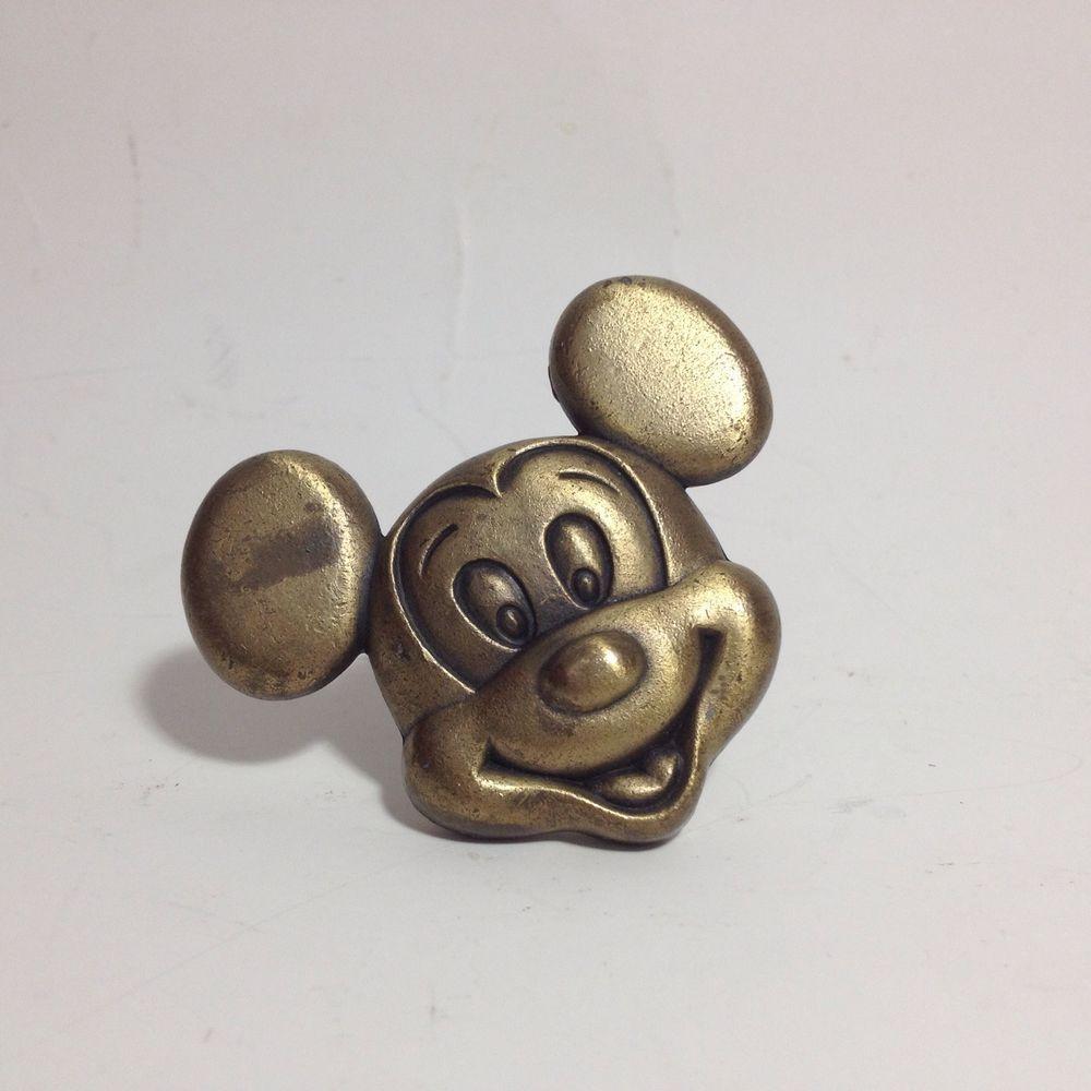 Disney Brass Drawer Pulls Cabinet Knob Mickey Mouse
