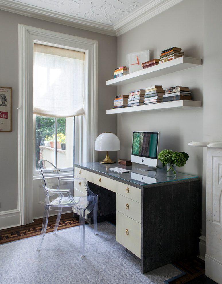 Interior Shelves Above Desk Attractive Wall Photos 5 Of 9