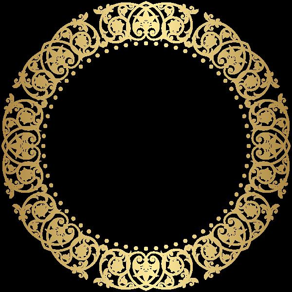 Round Border Frame Deco Png Clip Art Gold Circle Frames Clip Art Round Border
