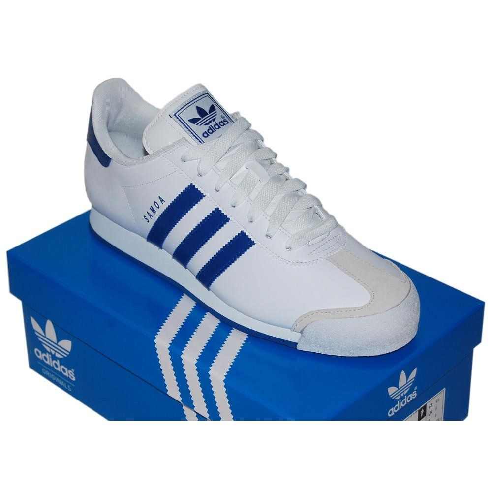 samoa adidas blue and white tracksuit
