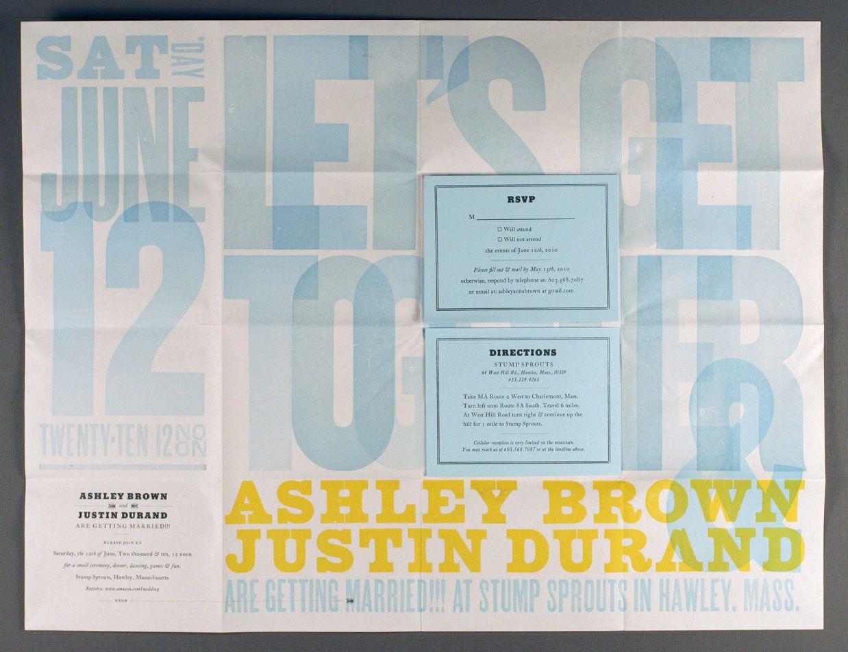 letterpress wedding poster invite - Google Search
