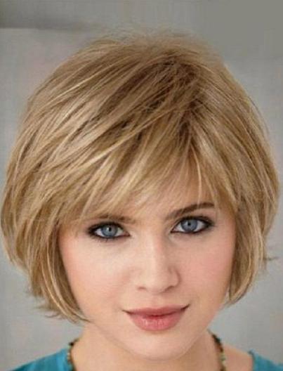 Short Hairstyles For Fine Hair And Round Face Auburn Hair