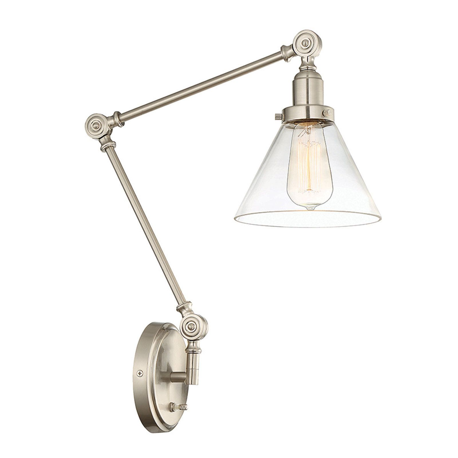 industrial triangle shade swing arm wall sconce swing arm wall