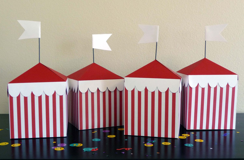 Circus Tent Box Centerpieces
