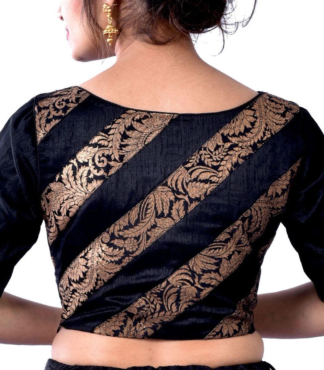 Black raw silk with khimkhab designer blouse bl indian house agencies also rh pinterest