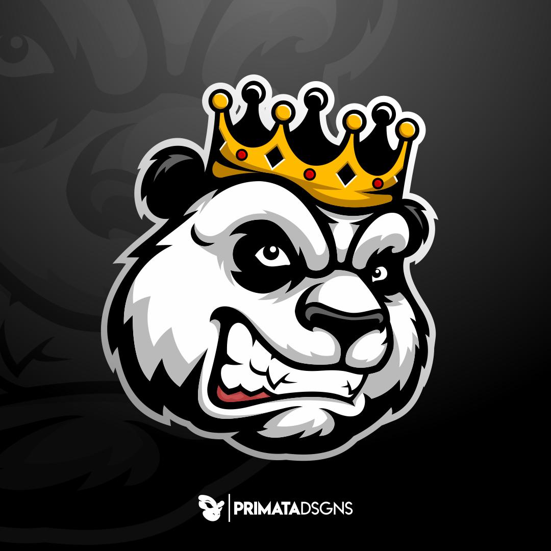 Pandemia Logo Hewan Gambar Serigala Sketsa