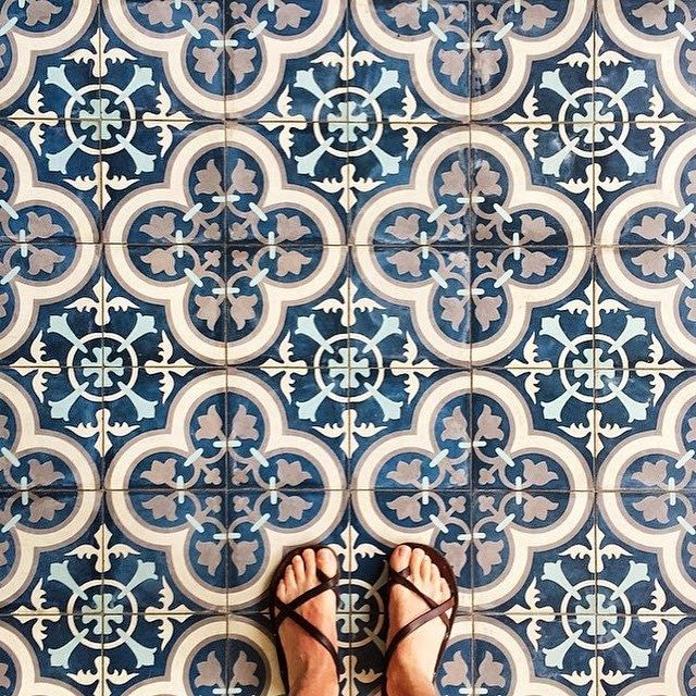 Mediteranian Kitchen Floor Patterns With  X  Tiles