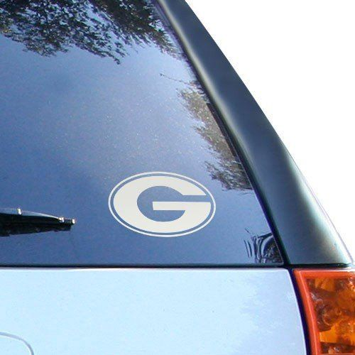 "Georgia Bulldogs 5'' x 6'' Silver Window Graphic Decal by Football Fanatics. $4.99. Stick this Georgia 5"" x 6"" window graphics decal on your car, truck, locker or any smooth surface to show your dedication to the greatest team ever!Team logoAttaches to any smooth surfaceWeather resistantNon-fadingNon-reusableMade in the USAApproximately 5"" x 6""Officially licensed NCAA product"