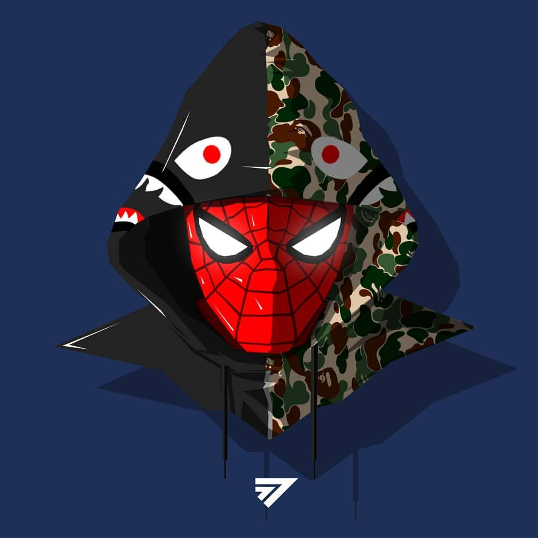 77 Szn 在 Instagram 上发布 Bape Spiderman 77szn Part 3 Of A