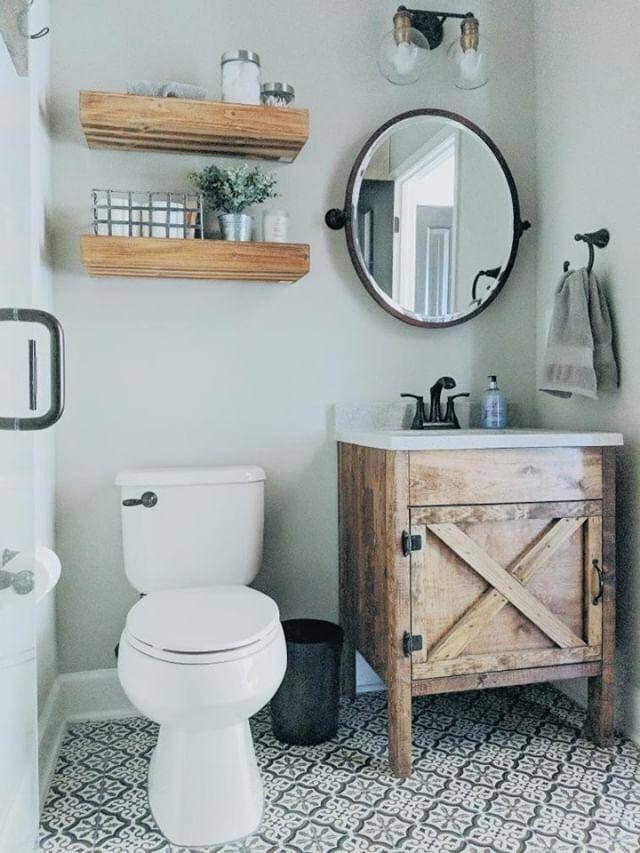 Rustic Barn Door Bathroom Vanity – Free Shipping – Farmhouse Vanity
