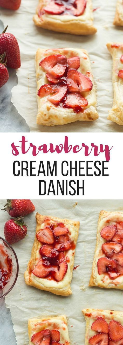 Easy Strawberry Cream Cheese Danish + VIDEO
