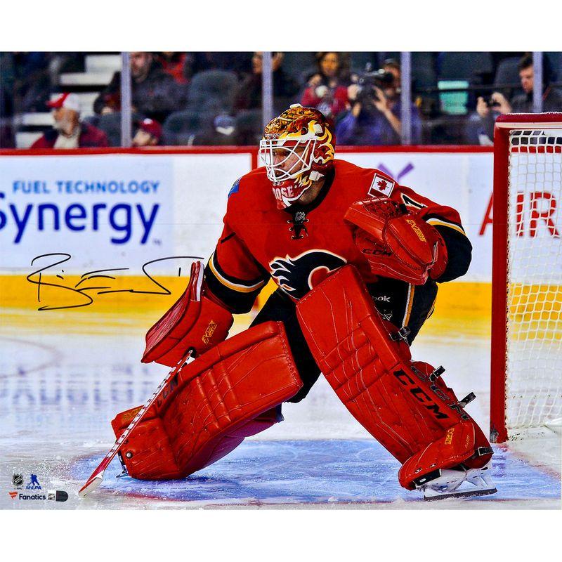 finest selection 3c324 72e46 Brian Elliott Calgary Flames Fanatics Authentic Autographed ...
