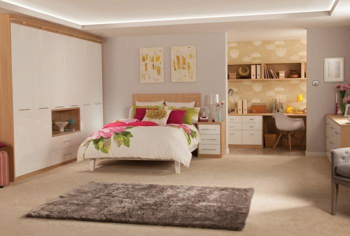 Dormitorios modernos dormitorio en colores c lidos cama for Dormitorios colores calidos
