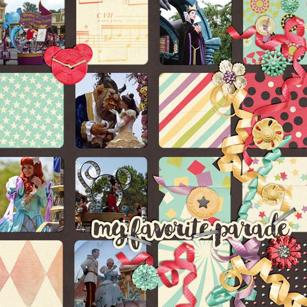 my favorite parade  main street parade- magical scraps galore  template 15 2 swl