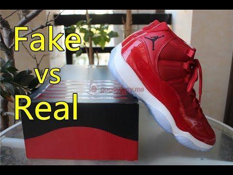 711dc1a4d1b Fake Vs Real! Air Jordan 11 Gym Red Comparison - gogoyeezy.me ...