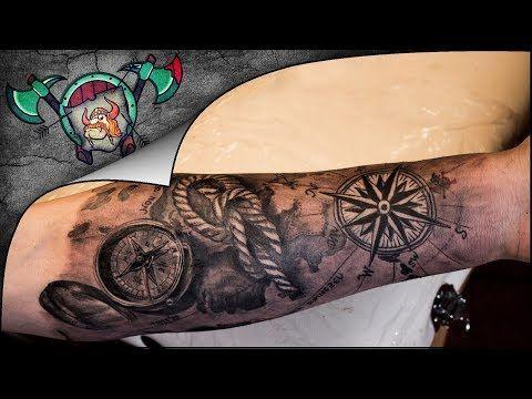 2a101e2563913 Marine Arm Sleeve Tattoo Time Lapse - YouTube | tattoos | Arm sleeve ...