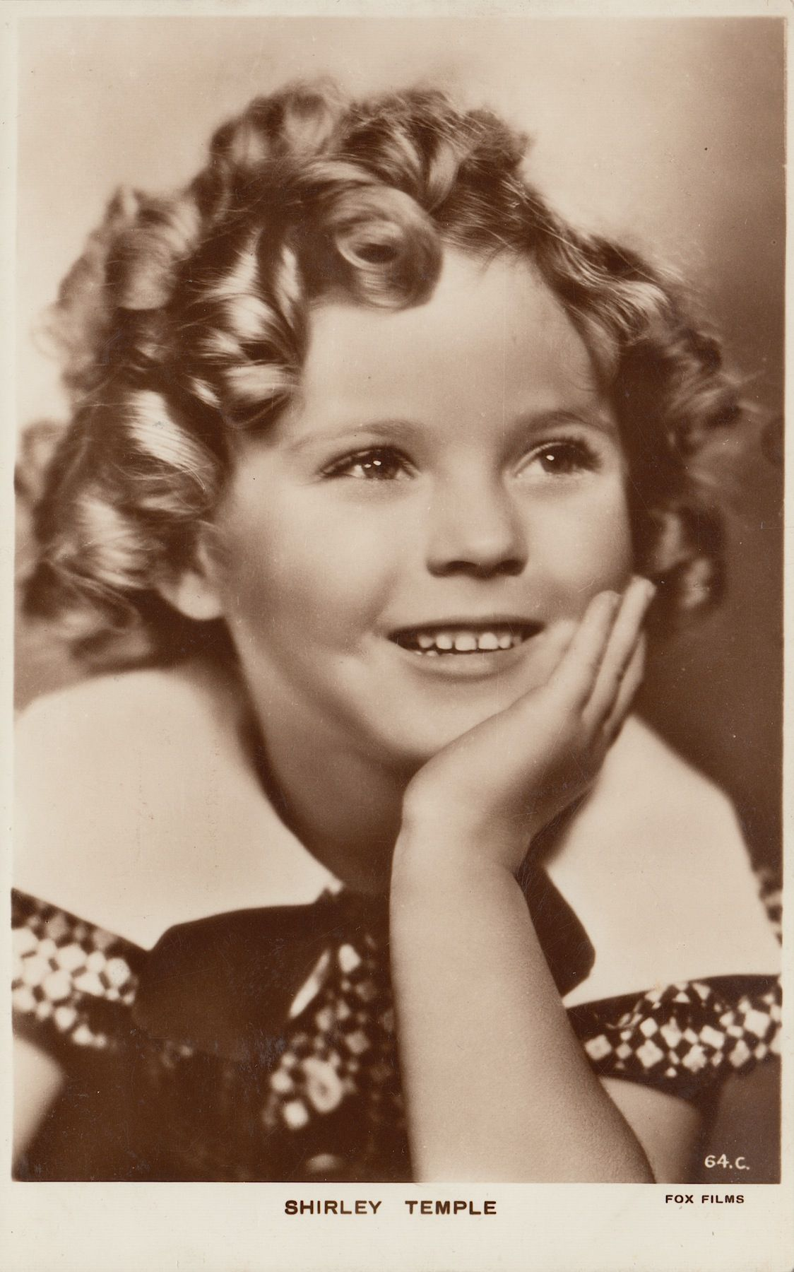 Shirley Temple Vintage Original Sepia 1930 S Real Photo Postcard